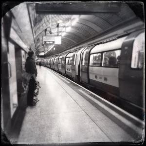 Farringdon tube station on a Saturday evening