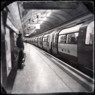 Farringdon tube station on a Saturday evening